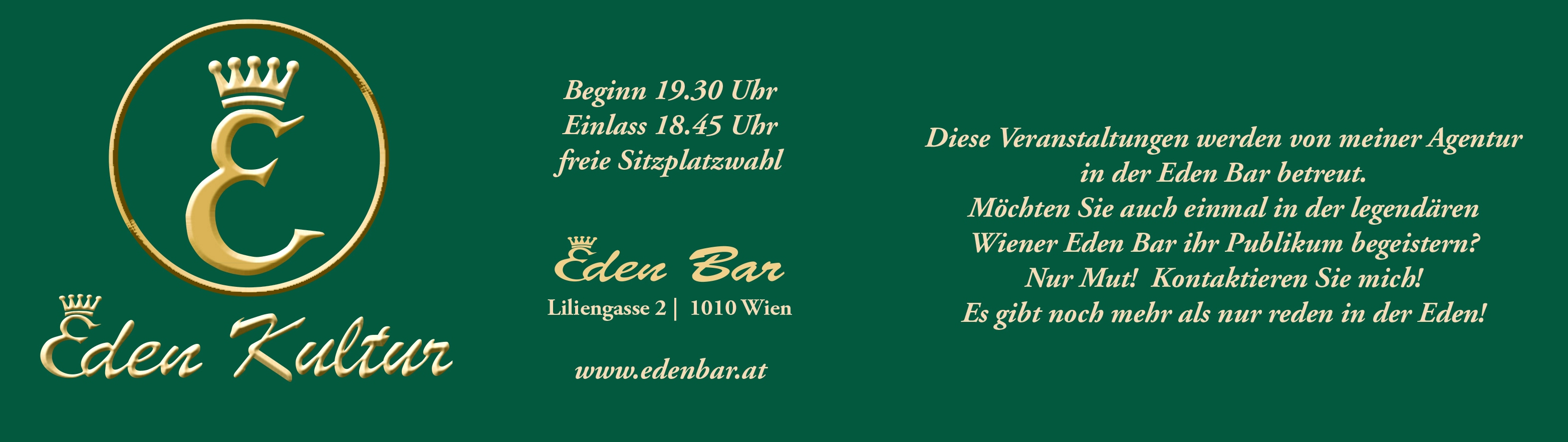 Agentur Taberhofer - EDEN BAR